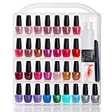 MAKARTT Professional Nail Polish Holder for 60 bottles with Large Separate Compartment for Tools For Sale