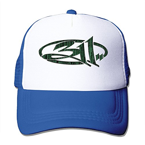 [311 Band Logo Snapback Trucker Mesh Unisex One Size Fits Most Hats Caps RoyalBlue] (Crazy Christmas Hats)