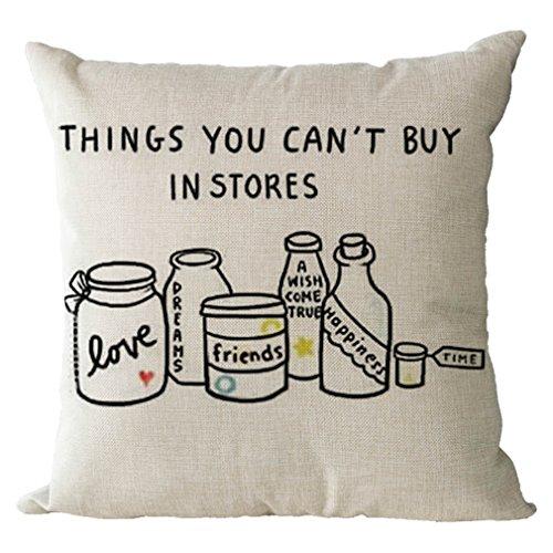 Nunubee Cotton Linen Pillow Covers 18 x 18 Pillowcases Throw Pillows Case Cushions For Sofa (Halloween Home Decor Tour)