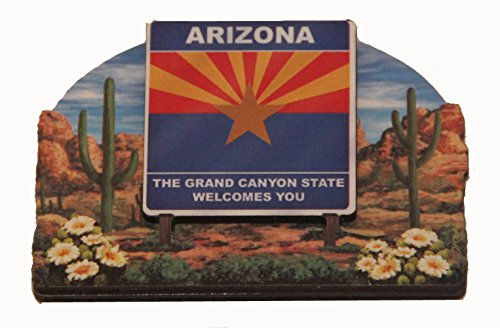 Magnet Arizona (Arizona State Welcome Sign Wood Fridge Magnet 2)