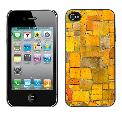 Premio Sottile Slim Cassa Custodia Case Cover Shell // V00002752 mosaïque aléatoire // Apple iPhone 4 4S 4G