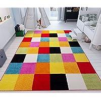 Modern Rug Squares Multi Geometric Accent 3'3