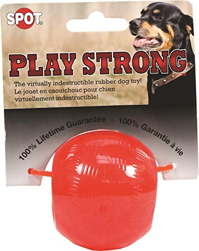 Ferret Peanut Butter (Ethical Pets Play Strong Virtually Indestructible Rubber Ball Dog Toy, 2.5-Inch)