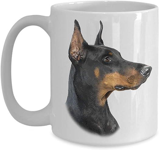 "mug /""I love/"" CA Dobermann ceramic cup"