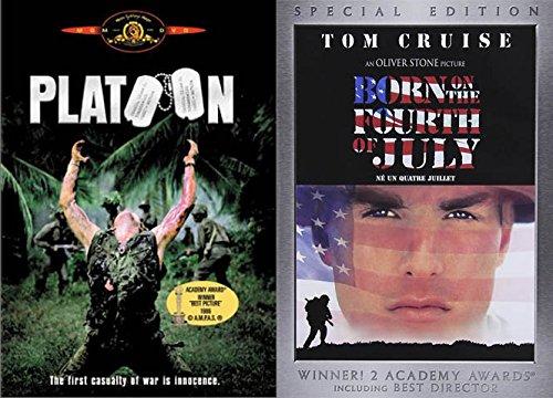 Oliver Stone Vietnam War Flim Collection - Platoon & Born on the Fourth of July 2-DVD Bundle (Tom Berenger Born On The Fourth Of July)