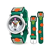 Bling Jewelry Green Basketball Hoop Sports Kids Watch Stainless Steel Back