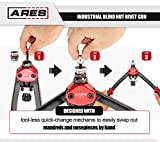 ARES 70418 | Industrial Blind Nut Rivet Gun | Includes M5, M6, M8, 10-24, 1/4-20, and 5/16-18 Mandrel Sets with Rivet Nuts | Works with Aluminum, Steel, and Stainless Steel Nuts
