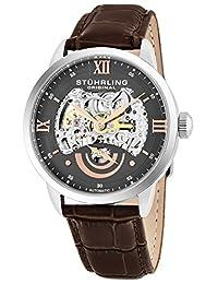 Stuhrling Original Men's 574.03 Symphony Aristocrat Executive II Automatic Skeleton Grey Dial Watch