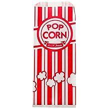 Carnival King Paper Popcorn Bags, 1 oz, Red & White, 1000 Piece w/ Bonus InPrimeTime Popcorn Scoop by Carnival King