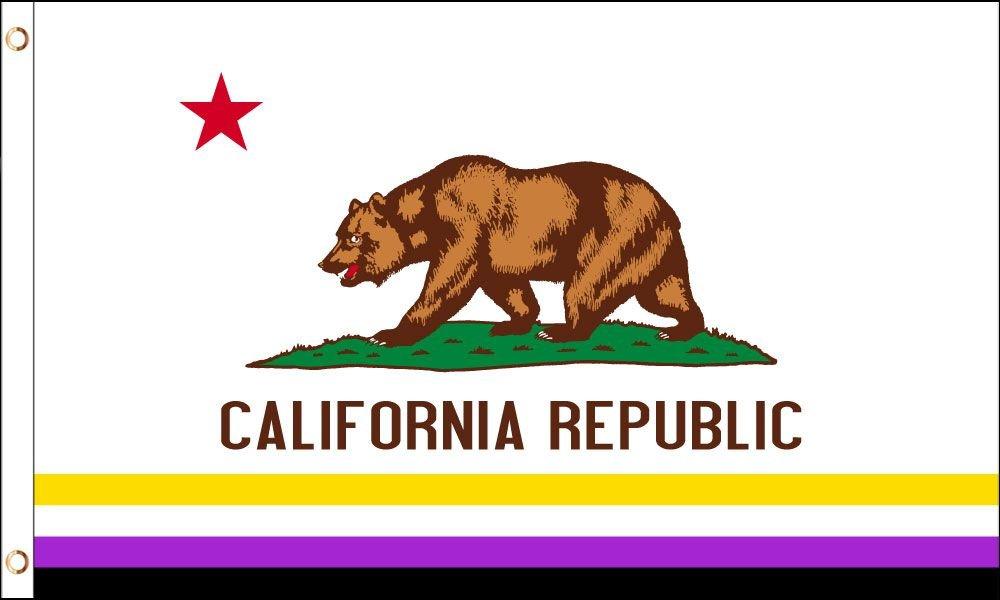 CALIFORNIA NON BINARY 3X5 FT POLY FLAG
