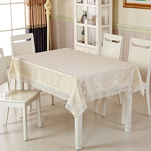 A4 8080cm ZXY Fashion home decoration European style garden tablecloths, embroidered lace tablecloths, wear, antifouling, dustproof, multipurpose rectangular tablecloth,A2,150  150cm