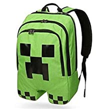 Unisex Teens Schoolbag Frigga Bloomed Minecraft Creeper Plush Backpack Gym Bag