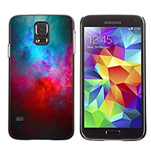 TopCaseStore / la caja del caucho duro de la cubierta de protección de la piel - Universe Cosmos Red Blue Galaxy Modern Art - Samsung Galaxy S5 SM-G900