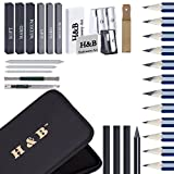 32 Pcs/Set Drawing and Sketch Kit Sketching Set Graphite & Charcoal Pencils Art Drawing Supplies Set with Kit Bag for Artists
