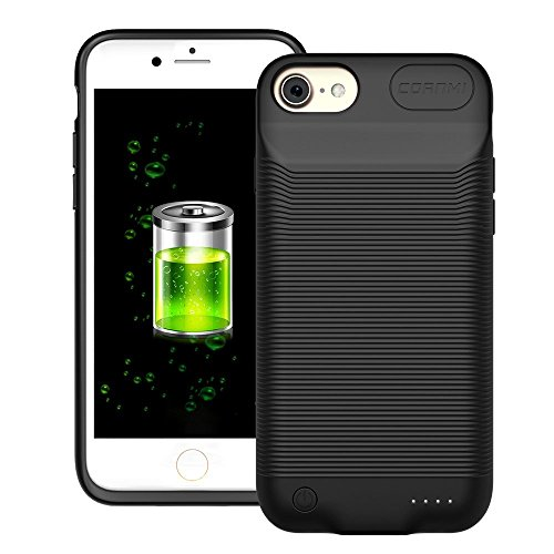 CORNMI Battery Case Compatible with i8, 2800mAh Battery Case Portable Charging Back Cover for i7 Protective Silicone Shockproof External Pack Charger Case Compatible for i6