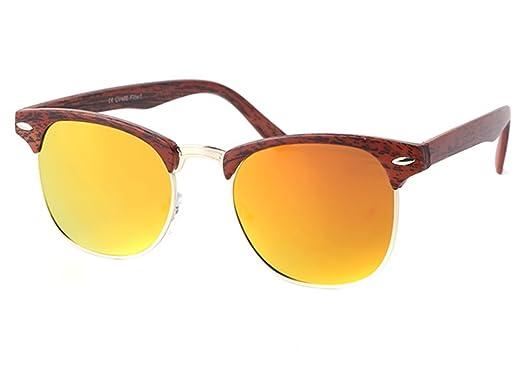 Sonnenbrille multilateral Pilotenbrille groß schwarzer Rand 400UV verspiegelt vdVa2Lras