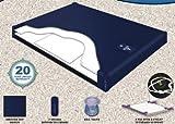 Semi Waveless Fluid Chamber Series 200 Mid Fill Softside Waterbed Bladder by Innomax (King)