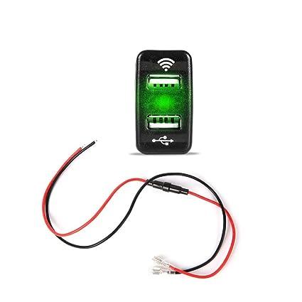 JENOR 40x22mm Bluetooth GPS Localizador 12V 24V Dual USB Cargador De Coche Adaptador Para Toyota