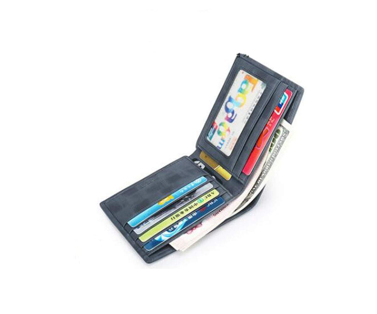 11.5 1.2 9.8 Suitable for Men Morden New Short Morden Casual Student Leather Wallet Kalmar RFID Travel Wallet Size cm Stealth Mode Blocking Leather Wallet Color Blue