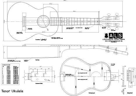 Amazon.com: Plan of Tenor Ukulele - Full Scale Print: Musical ...