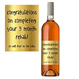 Funny Wine Bottle Label for New Mum Congratulations On The New Baby Boy Or Girl Perfect Baby Shower Gift