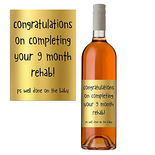 Funny Wine Bottle Label For New Mum Congratulations On The New Baby Boy Or Girl Perfect Baby Shower Gift (99 Wine Labels)
