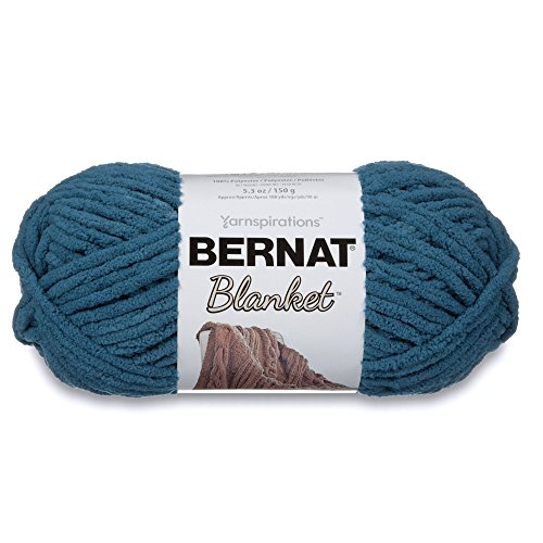 Bernat Blanket Yarn, 5.3 oz, Dark Teal, 1 Ball ()