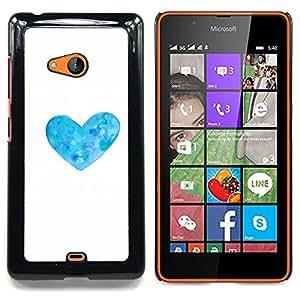 Stuss Case / Funda Carcasa protectora - Corazón de la flor blanca floral minimalista - Nokia Lumia 540
