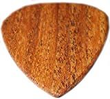 "Unique & Custom [1.5mm, 1.25 x 1.12"" Inch, X Heavy Gauge- Traditional Style Semi Tip] Hard Luxury Guitar Pick Made of Genuine Wood w/ Rainbow Popular Blank Design ""Brown Color"" {One Single Pick}"