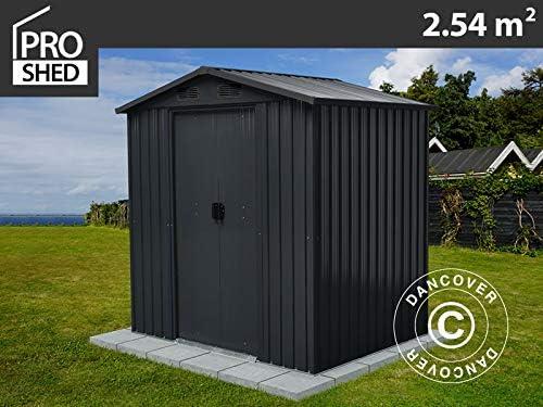 Dancover Caseta de jardín metálica, 1, 94x1, 31x2m, Antracita: Amazon.es: Jardín