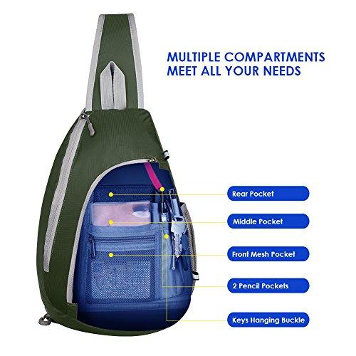 daa857a1dd Monospalla Per Donna Zaino Waterfly blu Uomo Trekking Outdoor Verde  Militare Bag Tracolla Multiuso Escursionismo Sling E 5RAznxz