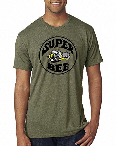 - Dodge Super Bee Logo | Mens Planes/Trains/Automobiles Premium Tri Blend Tee Graphic T-Shirt, Military Green, X-Large