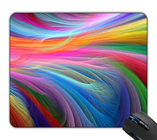 Rainbow Optical Mouse - Rock-Pads Mouse Pad, Fractal Rainbow Ocean, Mouse Pad, Mousepad Mat for Desktops Computer PC and Laptops