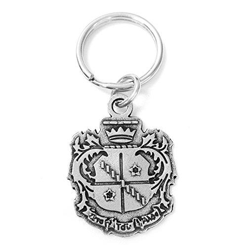 Alpha Metals Lead - Zeta Tau Alpha Metal Crest Keychain Officially Licensed ZTA