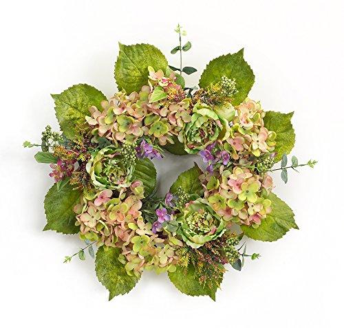 Melrose International Spring Floral Hydrangea Peony Wreath