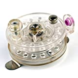 Isafish Plastic Ice Fishing Reels with Drag System Left/Right Interchangeable Handle Fly Reel