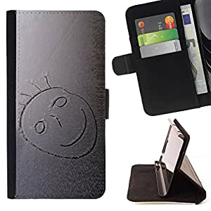 DEVIL CASE - FOR LG OPTIMUS L90 - Snow Smiley - Style PU Leather Case Wallet Flip Stand Flap Closure Cover