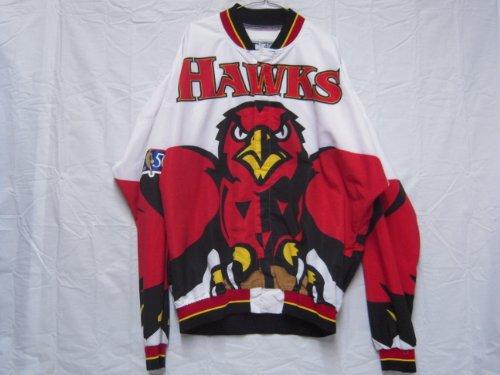 #8 Steve Smith 1996-97 Atlanta Hawks Game Worn Warm-up Jacket w/ NBA 50th Anniversary Patch