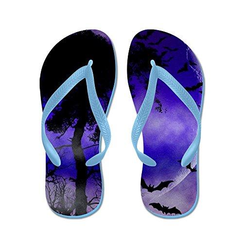 Cafepress Paarse Nachtmaan - Flip Flops, Grappige Leren Sandalen, Strand Sandalen Caribbean Blue