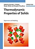 img - for Thermodynamic Properties of Solids: Experiments and Modeling book / textbook / text book