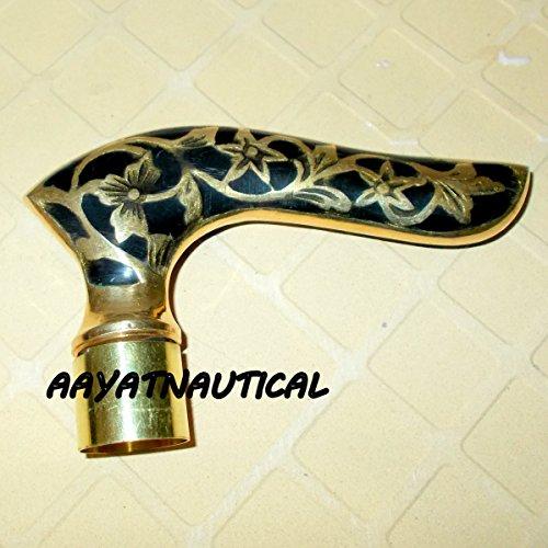 Nautical Brass Handle Designer Canes~Wooden Walking Stick...