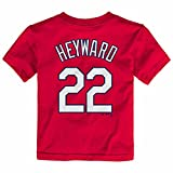 Majestic Jason Heyward St Louis Cardinals MLB Toddler's Red Faux Stitch Player Name & Number Jersey T-Shirt (2T)
