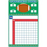 """Amscan Football Frenzy Birthday Party Game Sheet with Ribbons Activity (6 Piece), Green/White, 16 x 9.3"""""""