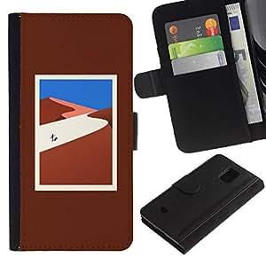 All Phone Most Case / Oferta Especial Cáscara Funda de cuero Monedero Cubierta de proteccion Caso / Wallet Case for Samsung Galaxy S5 Mini, SM-G800 // lejos