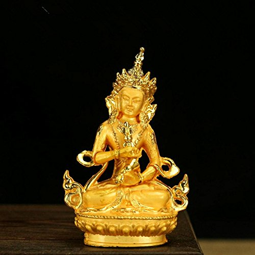 Buddha Statue Copper - Buddhist Supplies Mini Figure of Buddha Holy Solemn Vajrasattva Copper Statue Exquisite Vajrapani Figurine Temple Decorations