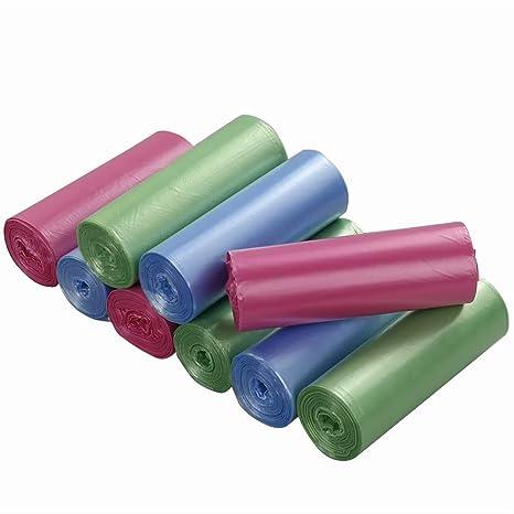 Ordate - Bolsas de basura, color azul, verde y rosa, 25 L ...