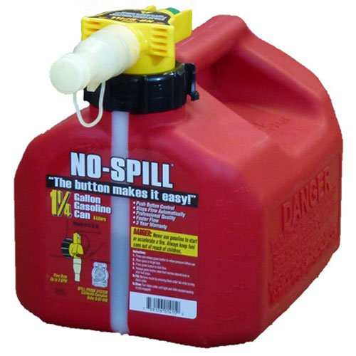 No-Spill 1415 1-1/4-Gallon Poly Gas Can (CARB Compliant) by No-Spill