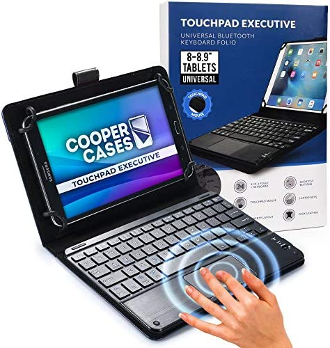 Compatible with All Android /& Windows Smartphone // Tablets with Bluetooth Functions Color : White Black Tablet PC Cover Case Mini Universal Portable Bluetooth Wireless Keyboard with Touch Panel