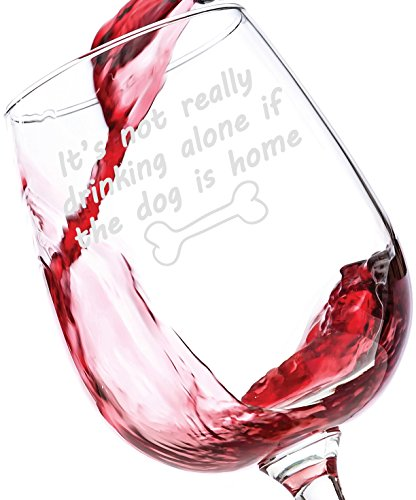 If The Dog Is Home Funny Wine Glass Best Birthday Gifts For Pet