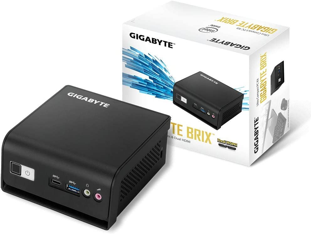 "Gigabyte Ultra Compact Mini PC/Intel UHD Graphics 600/2.5"" HDD SSD/HDMI (2.0) Component- GB-Blce-4105R"